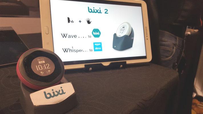 Bixi qui intègre la reconnaissance vocale d'Alexa en plus de la reconnaissance gestuelle de Bixi