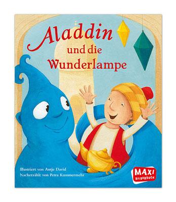 """""""Aladdin und die Wunderlampe"""" MAXI BILDERBUCH Die schönsten Kinderklassiker Ellermann Verlag 2015"""