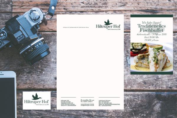 Logo, Geschäftspapier & Printmedien – Hiltruper Hof