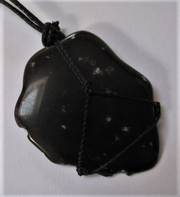 38 x 28 mm, Schneeflocken-Obsidian aus den USA