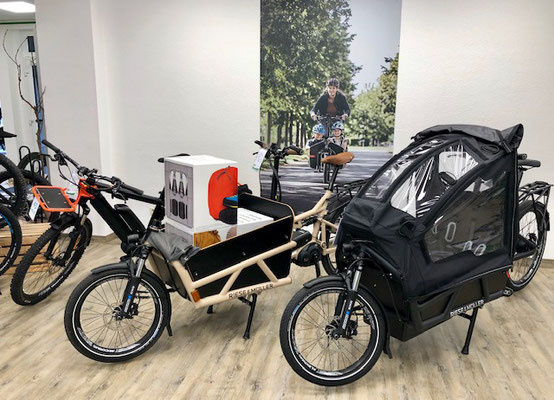 Lastenfahrräder und Cargo e-Bikes kaufen im Lastenfahrrad-Zentrum Tönisvorst