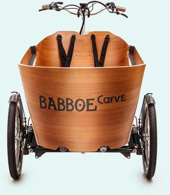 Babboe Lastenfahrrad mit Elektromotor Carve Mountain mit Carve Lock System