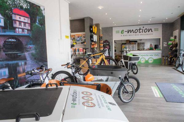 Impressionen aus dem Lastenfahrrad-Zentrum Bad Kreuznach - die Lastenräder