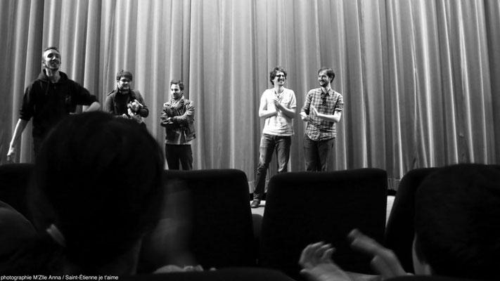 L'équipe de la web série The Hunters au cinéma Le Méliès Saint-François © M'Zlle Anna, photographe