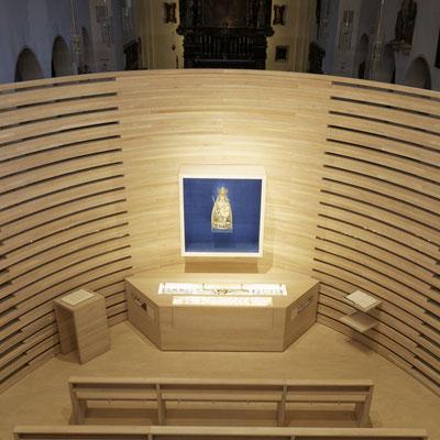 Die im Jahr 2014 erstelle Marienkapelle in der Wallfahrtskirche