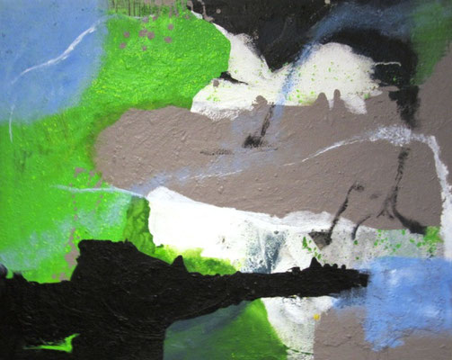 Ohne Titel, Acryl auf Leinwand 80 x 100 cm