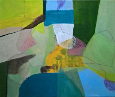 Ohne Titel - Acryl auf Leinwand, 50 x 60 cm