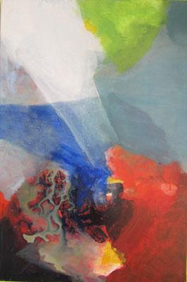 Ohne Titel, Acryl auf Leinwand 88 x 59 cm