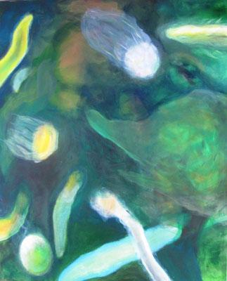 Clownsfisch 3 - Acryl aufLeinwand - 100 x 80