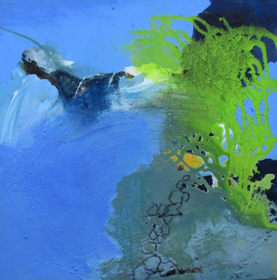 Ohne Titel, Acryl auf Leinwand, 60 x 60 cm