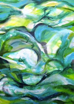 Ohne Titel, Acryl auf Leinwand 140 x 100 cm
