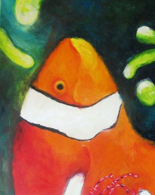 Clownsfisch 1 - Acryl auf Leinwand - 100 x 80