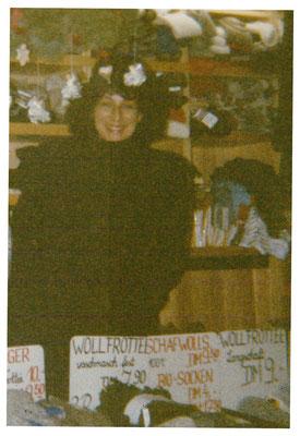 Jane Gerlach auf dem Ingolstädter Christkindelsmarkt.