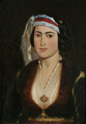 Πορτραίτο κόρης με ελληνική ενδυμασία