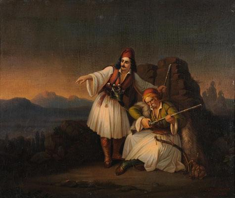 Δύο πολεμιστές, 1855