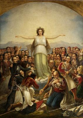 """""""Υπέρ πατρίδος το παν"""", 1858"""