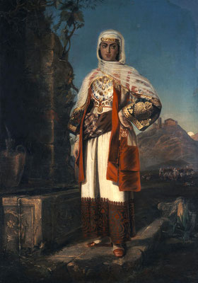 Κόρη με στολή Αττικής