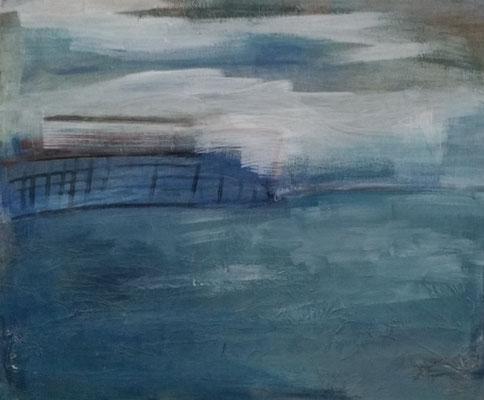 Landschaft  Eitempera auf Leinwand  50 x 60 cm