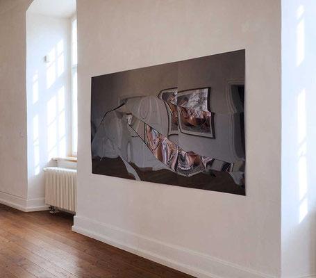 AXEL ANKLAM - Schneeland, schwarz, großes Diptychon, 2017 © the artist
