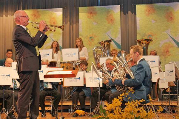 Hansjörg Ammann (Trompete); Jahreskonzert 29. März 2014 Mehrzweckhalle Kölliken