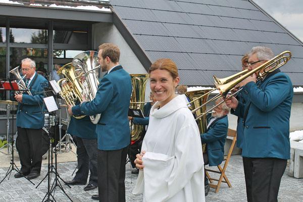 Ständchen Erstkommunion 5. Mai 2019 Katholische Kirche Kölliken; Caroline Hoerdt, Religionspädagogin