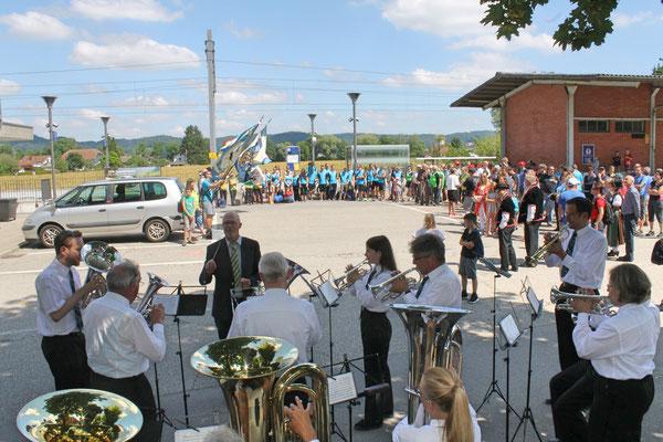 Empfang der Turner vom Eidg. Turnfest Bahnhof Kölliken 23. Juni 2019