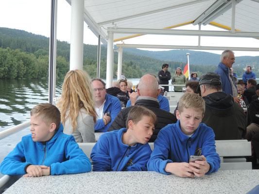 Ausflug mit dem MVU 22. September 2019; Schifffahrt auf dem Schluchsee; Zöglinge des MVU