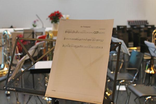 Probesamstag 24. November 2018 mit dem Jodlerklub Kölliken in der katholischen Kirche; «De Trompeter» komponiert von Emil Grolimund
