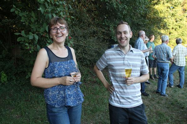 Johanna Foltrauer (Vizepräsidentin) und Matthias Zeltner (Präsident); 70. Geburtstag Lui Huber; Openair Konzert am 26. August 2016 in Walterswil