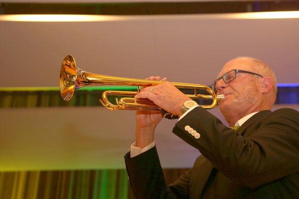 Hansjörg Ammann, Trompete; Jubiläumskonzert «125 Jahre MGK» 02.04.2016 MGK und MVU (D); Foto: Ruedi Hunziker, Atelier Lightning, Kölliken