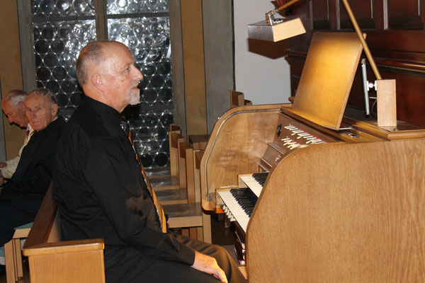 Theo Widmer (Orgel); Kirchenkonzert 4. November 2012 reformierte Kirche Kölliken