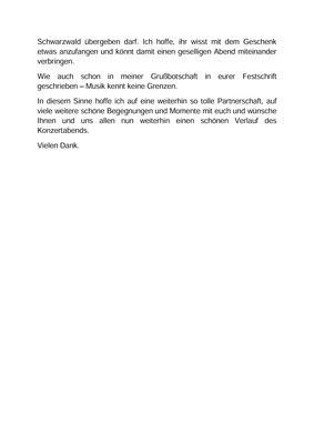 Festansprache (Seite 2) von Felicitas Kaiser, 1. Vorsitzende; Jubiläumskonzert «125 Jahre MGK» 02.04.2016 MGK und MVU (D)