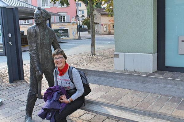 Musikreise 23. und 24. September 2017 nach Elm GL, Fläsch GR, Taminaschlucht SG; Heidi Franz in Bad Ragaz