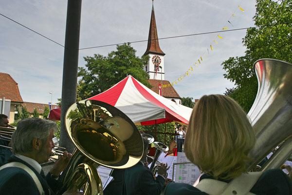 500 Jahre reformierte Kirche Kölliken, 2. Juli 2007; Foto: Ruedi Hunziker, Atelier Lightning, Kölliken