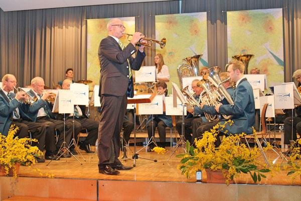 Hansjörg Ammann (Trompete), Jahreskonzert 29. März 2014 Mehrzweckhalle Kölliken