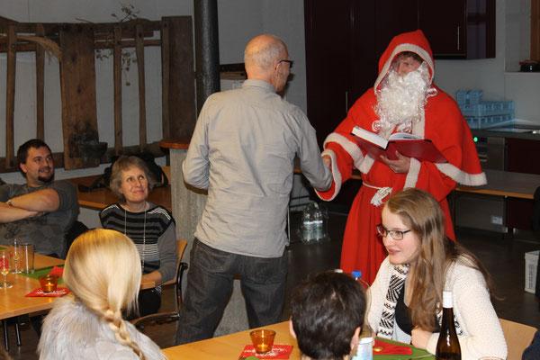 Hansjörg Ammann und Sankt Nikolaus Lorenz Halder; Jahresschlusshock 5. Dezember 2015 Matte Holziken