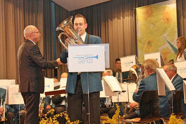 Matthias Zeltner (Euphonium), Jahreskonzert 29. März 2014 Mehrzweckhalle Kölliken