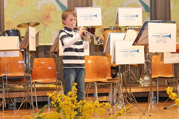 Jungmusikant Noé Maibach; Jahreskonzert 29. März 2014 Mehrzweckhalle Kölliken