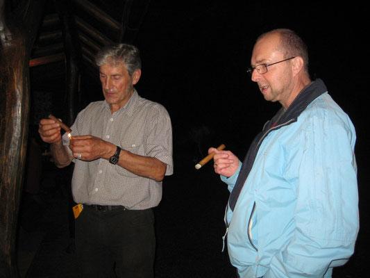 Sepp Ottiger, Robert «Röbi» Messer; Bräteln 2. Juli 2012 Waldhütte Salamander Kölliken