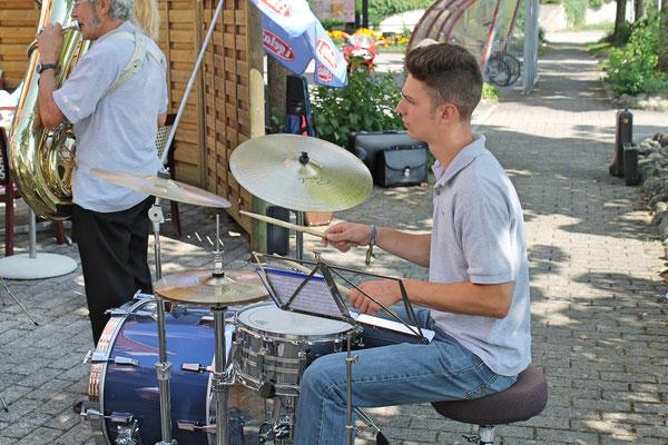 Claudius Ammann (Schlagzeug), Ständchen am 11. August 2013 beim Kölliker Altersheim
