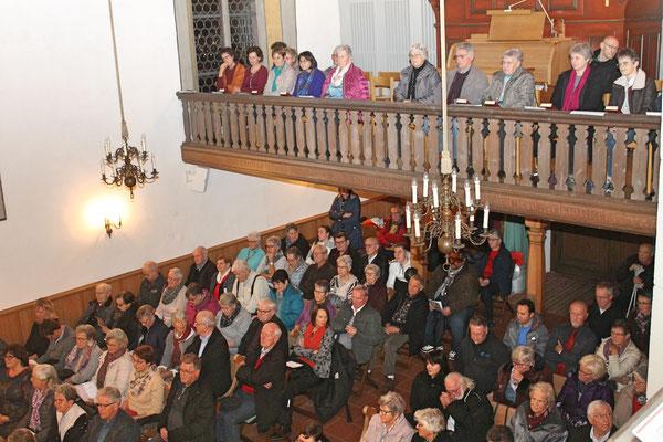 Kirchenkonzert mit dem Jodlerklub 9. Dezember 2018; volle Ränge in der reformierten Kirche Kölliken