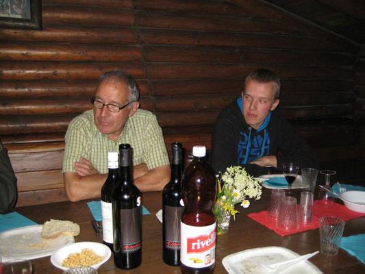 Hans Boner, Matthias Graber; Bräteln 2. Juli 2012 Waldhütte Salamander Kölliken