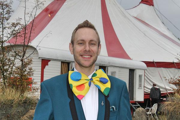 Matthias Zeltner; Auftritt im Zirkus Stey Dorfplatz Kölliken am 17. August 2018