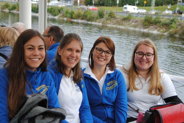 Ausflug mit dem MVU 22. September 2019; Schifffahrt auf dem Schluchsee; v.l. Nicole Barheier, Sarah Fräulin, Katrin Wunderle, Jessica Wetzel