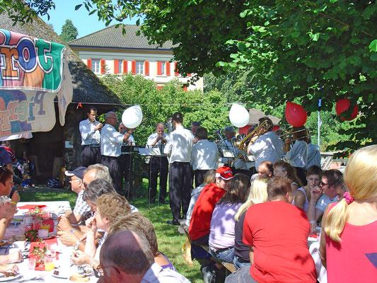 Bundesfeier beim Strohdachhaus (Kölliker Dorfmuseum) am 1. August 2009