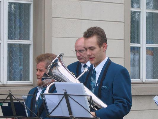 v.l.n.r. Lui Huber, Daniele Fabbro, Matthias Zeltner; Kreiseleinweihungsfest «Sonnelkreisel» 20. Juni 2009