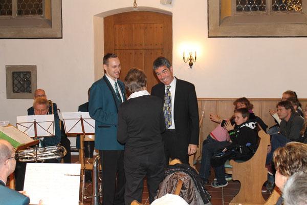 Matthias Zeltner (Präsident), Ruedi Gebhard (Moderation); Kirchenkonzert 4. November 2012 reformierte Kirche Kölliken
