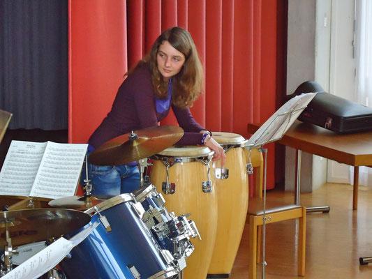 Ursina Ammann (Percussion); Probesamstag 3. März 2012 Arche Kölliken
