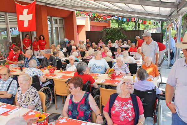 Bundesfeier beim Alterszentrum Sunnmatte Kölliken 1. August 2017; Hedi Lienhard