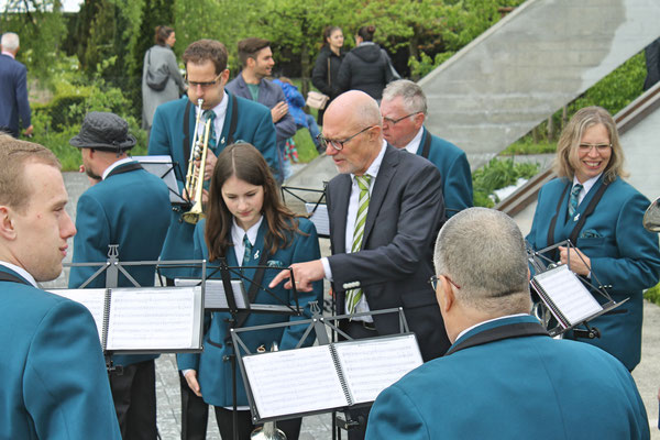 Ständchen Erstkommunion 5. Mai 2019 Katholische Kirche Kölliken; Annamaria Gamp (Cornet), Dirigent Hansjörg Ammann
